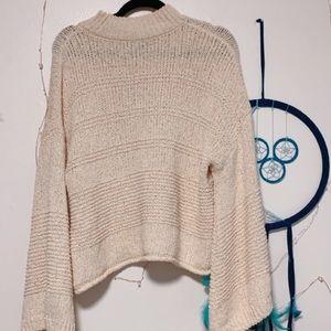 Topshop Cream Knit Sweater
